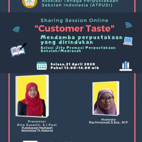 "Sharing Session Online ""Customer Taste"""